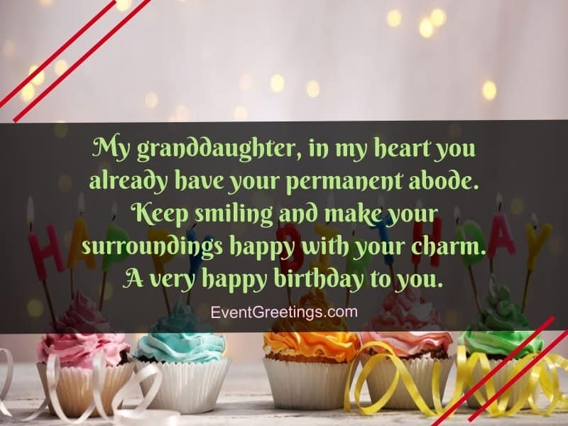 inspirational birthday wishes for granddaughter
