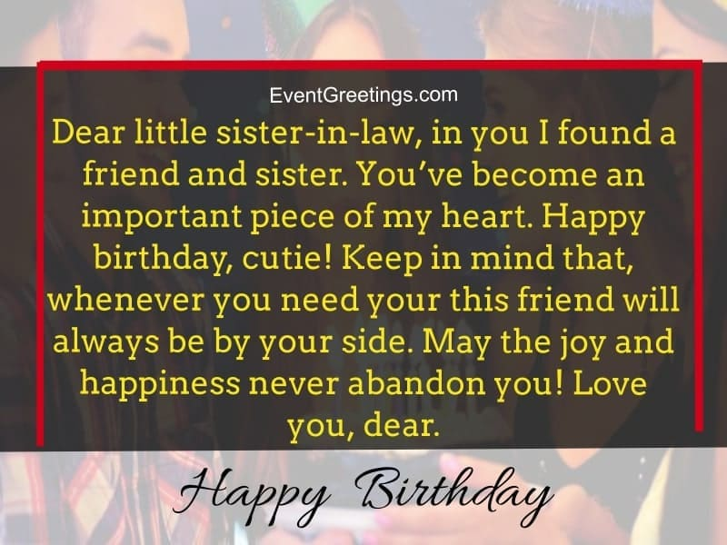 Birthday Wishes For Sister In Law To Express Unconditional Love