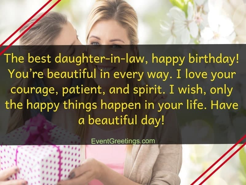 Birthday Wishes For Daughter In Law