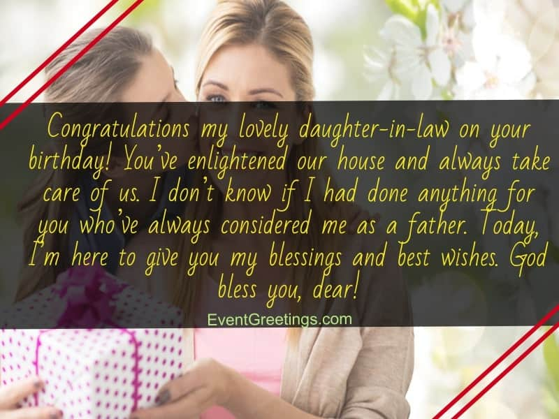 40 Sweet Happy Birthday Daughter In Law Quotes And Wishes Events