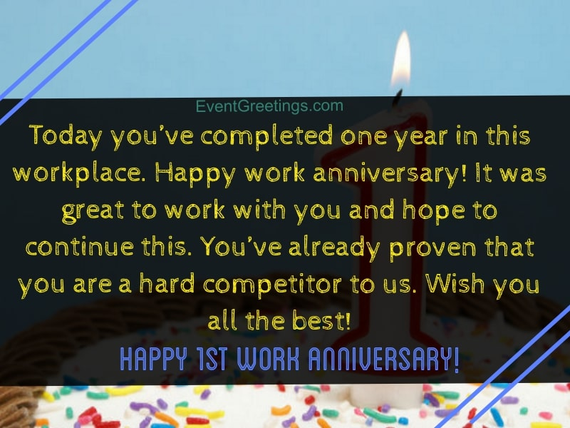 15 Unique Happy 1 Year Work Anniversary Quotes With Images
