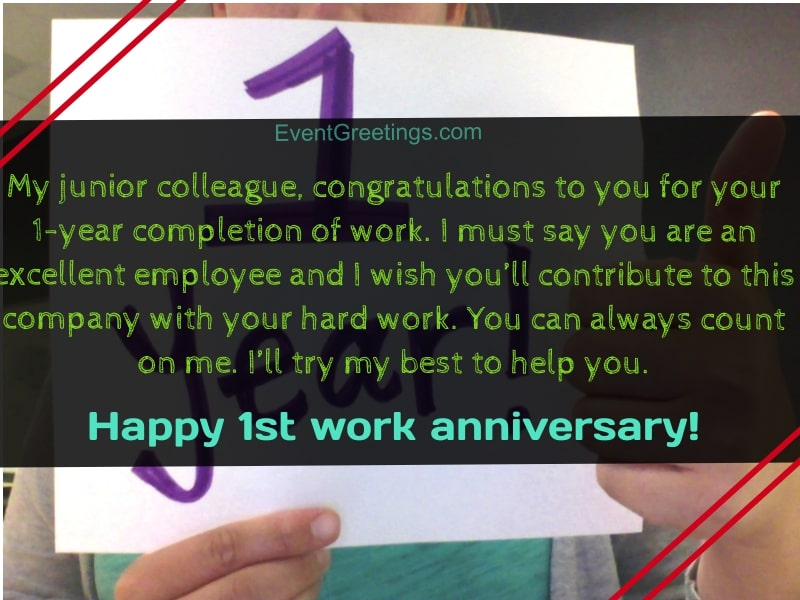Hy 1 Year Work Anniversary