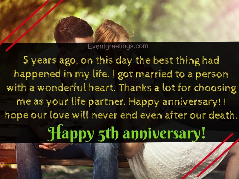 15 Best Happy 5 Year Anniversary Quotes With Images Events Greetings