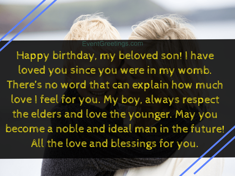 quotes from mother to son on his birthday