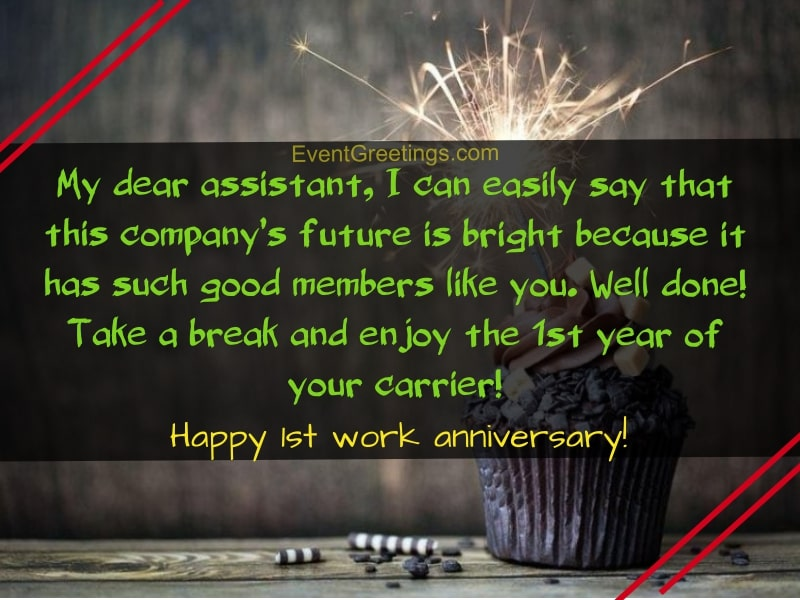 1 year work anniversary quotes