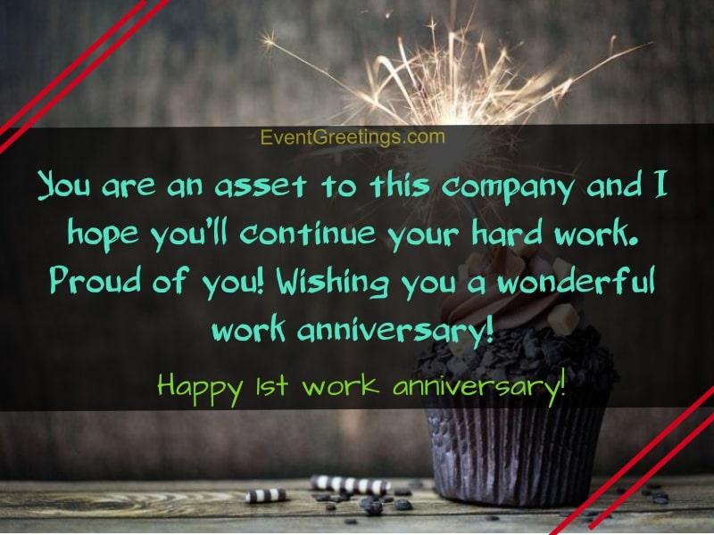 happy 1 year work anniversary