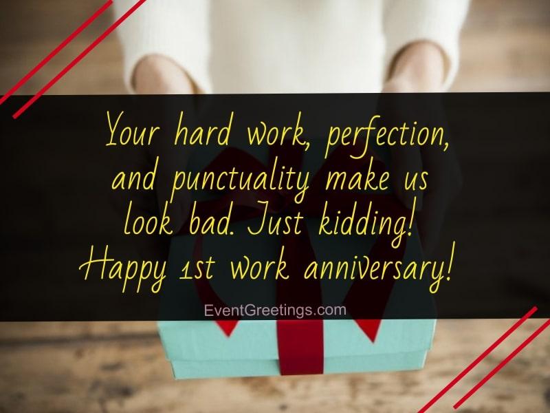 1 year work anniversary