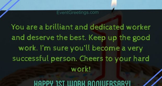 15 Unique Happy 1 Year Work Anniversary Quotes With Images Events