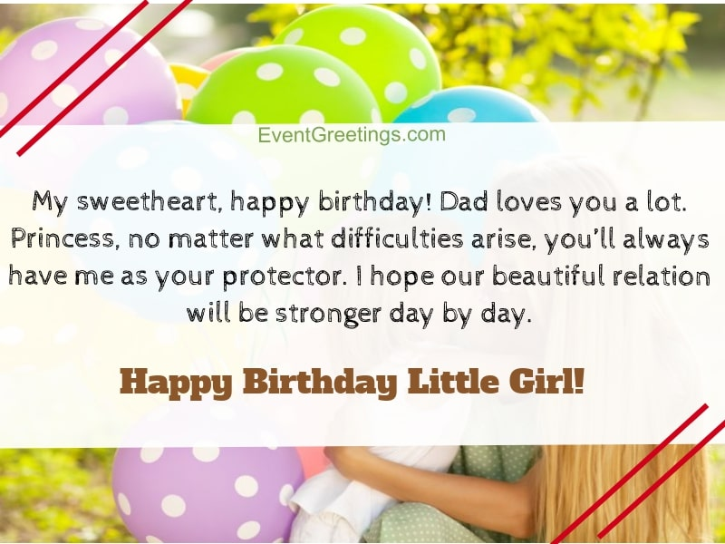 Birthday Wishes For Little Girl