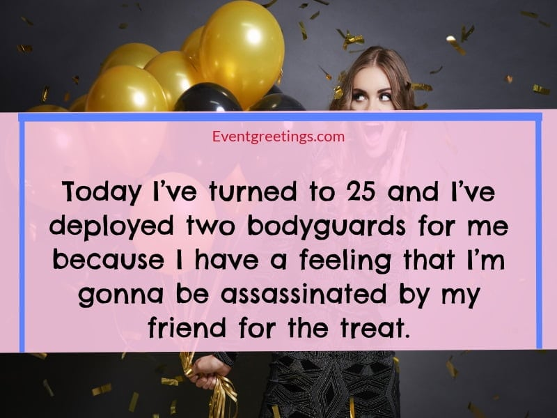 25th birthday quotes for myself