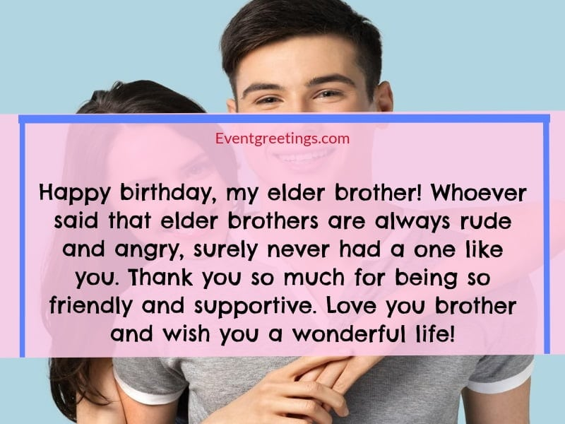 30 Best Birthday Message For Brother From Sister To Strong
