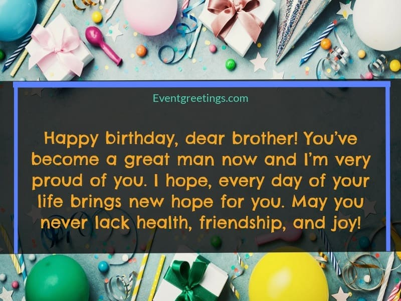 birthday quotes for brother from sister