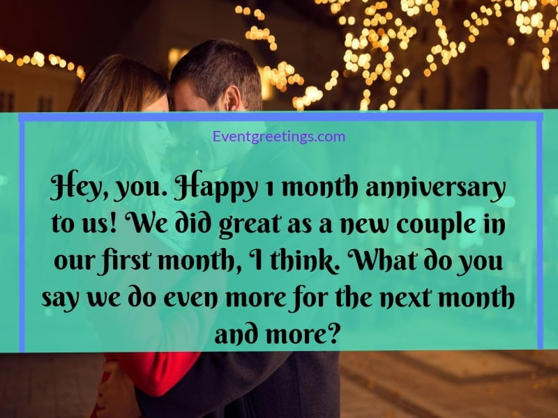 Happy 1 Month Anniversary Quotes