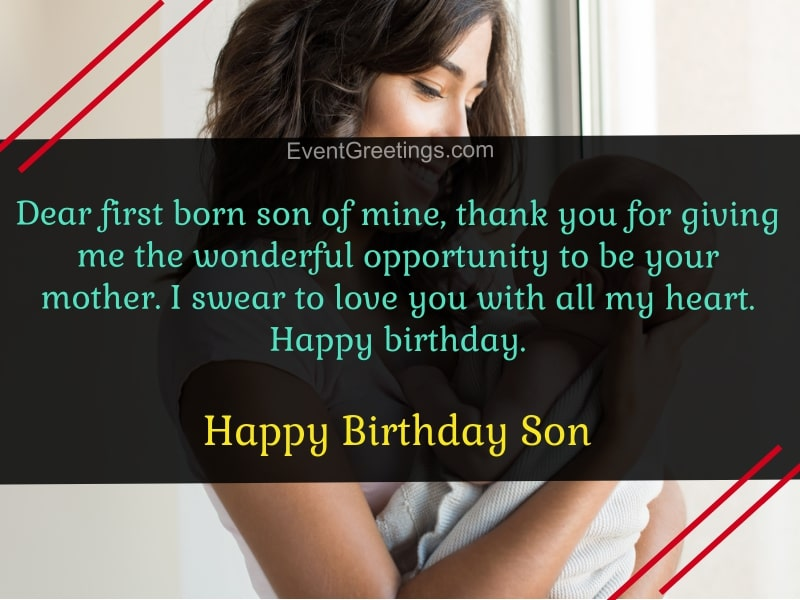 happy birthday to my first born son