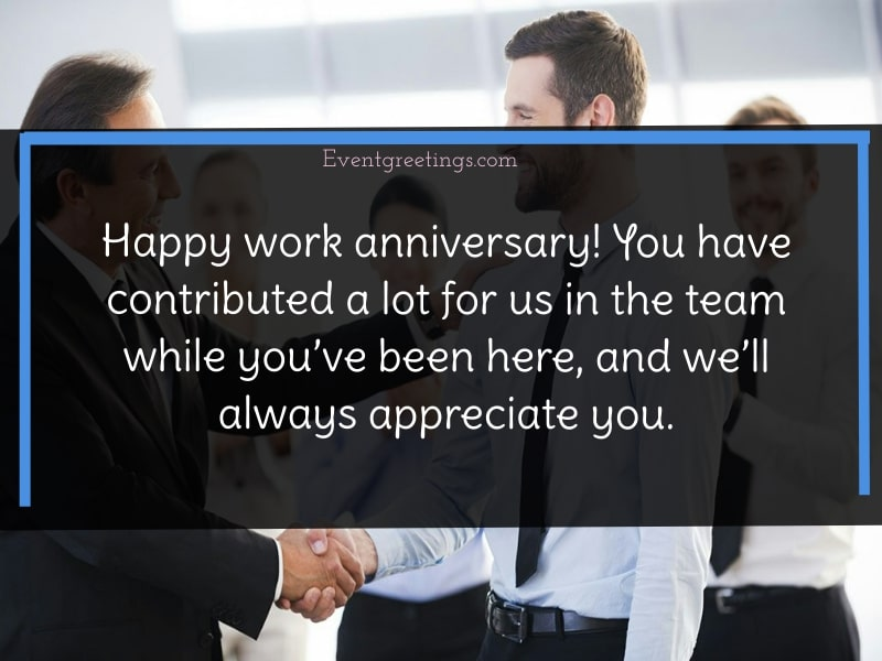 happy work anniversary