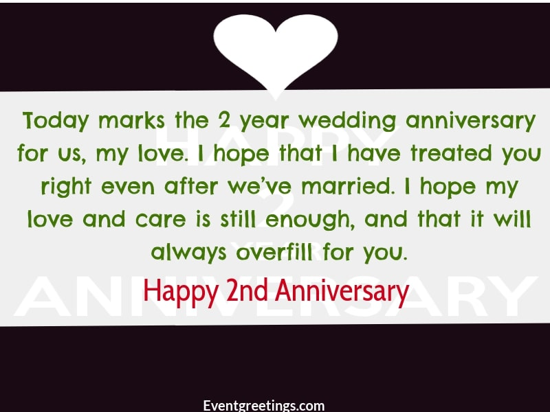 Two Year Anniversary Letter from www.eventgreetings.com