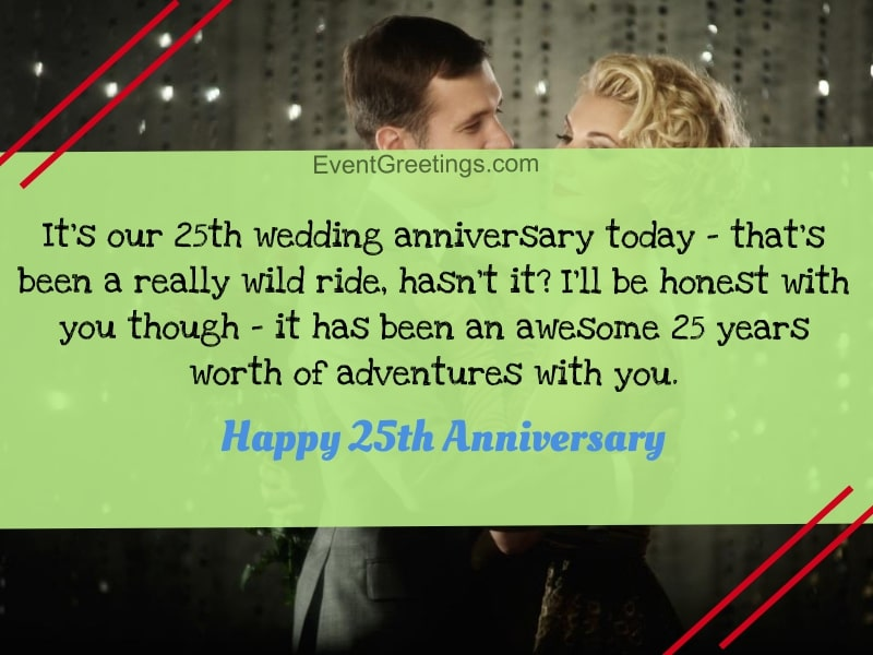 25th Wedding Anniversary Quotes