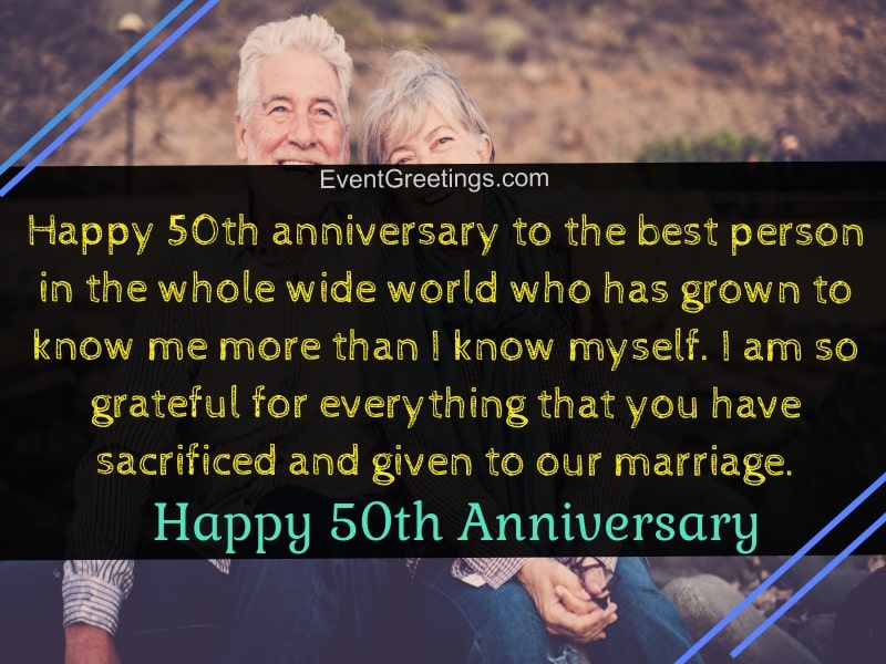 30 Amazing 50th Wedding Anniversary Wishes With Images