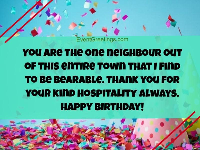 happy birthday neighbor