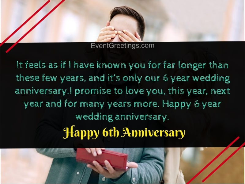 6 year wedding anniversary