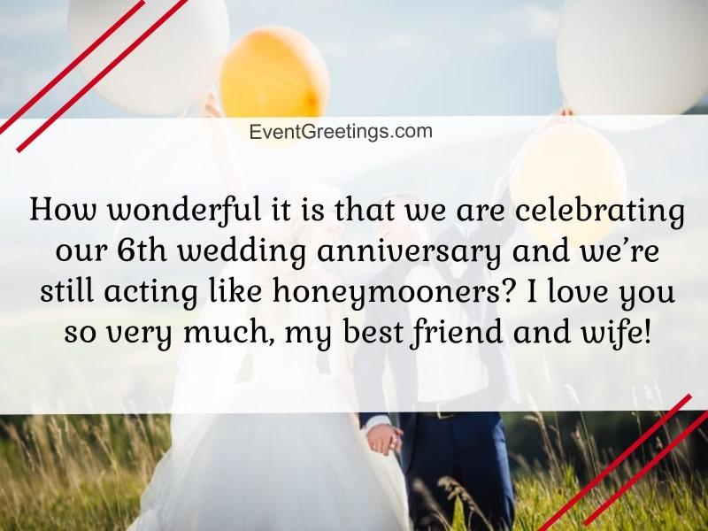 6 year wedding anniversary
