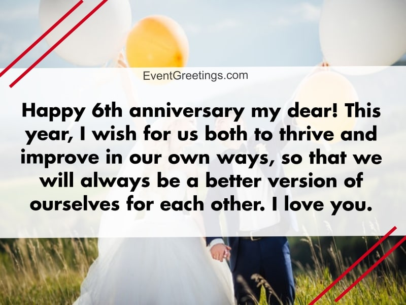 20 Best 6 Year Wedding Anniversary With Images