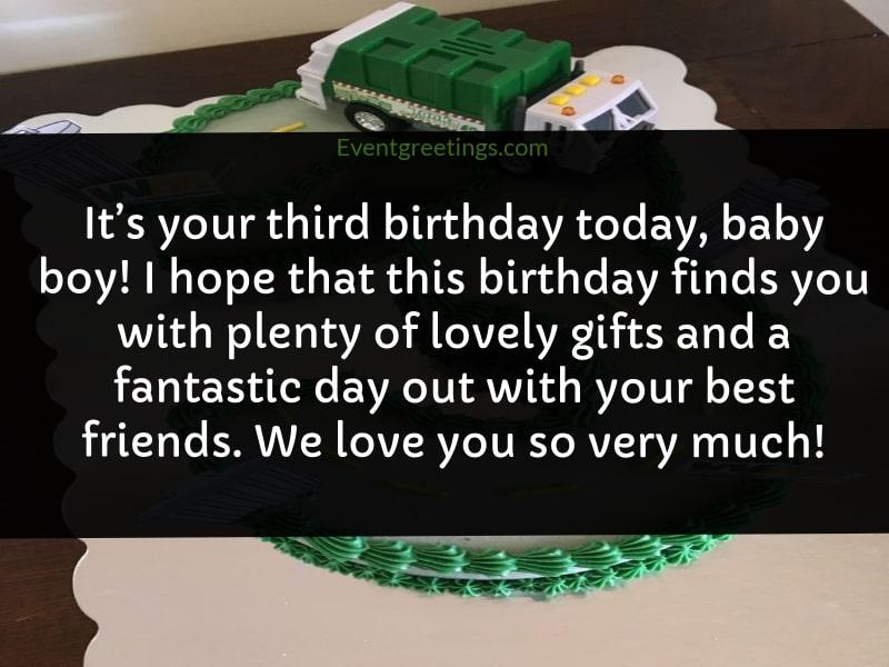 Happy 3rd Birthday Boy
