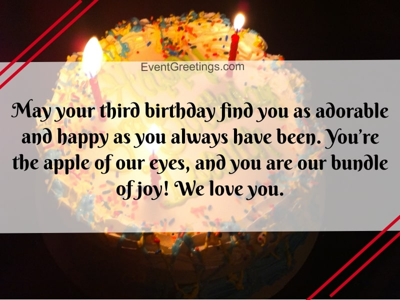 Happy Birthday 3 Year Old