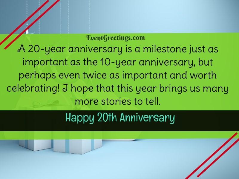 20 Year Anniversary