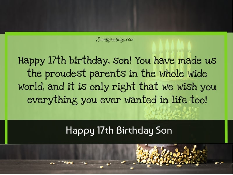 Happy 17th Birthday Son
