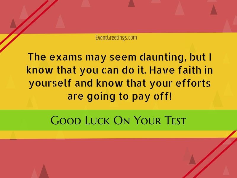 Good Luck On Your Exam