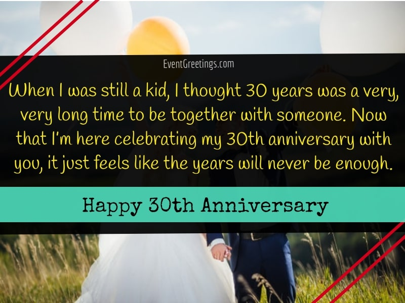 30th wedding anniversary