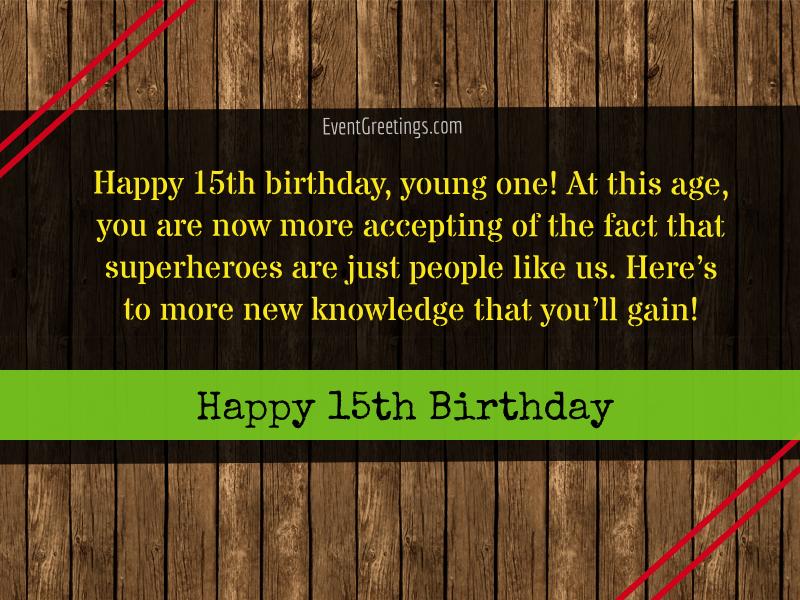 Happy 15th Birthday Boy