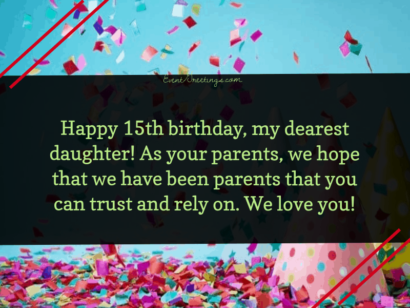 Happy 15th Birthday Daughter