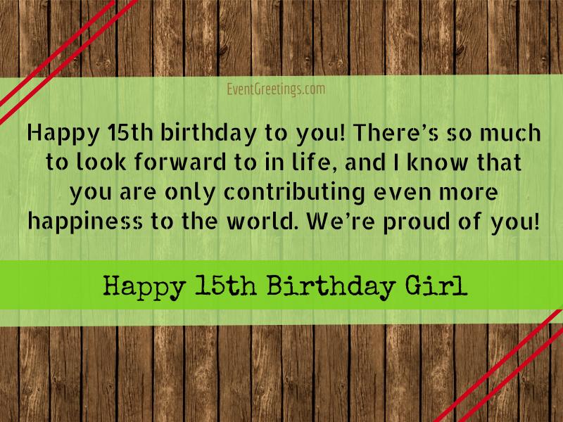 Happy 15th Birthday Girl