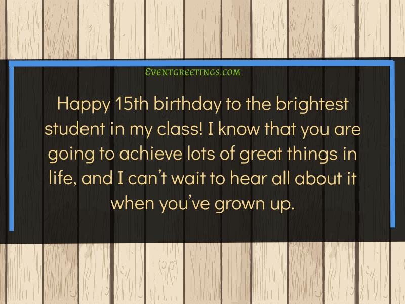 Happy 15th Birthday