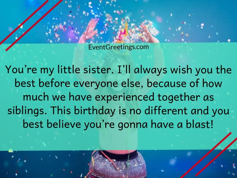 Wondrous 25 Cute Happy Birthday Little Sister Wishes With Infinite Love Funny Birthday Cards Online Elaedamsfinfo