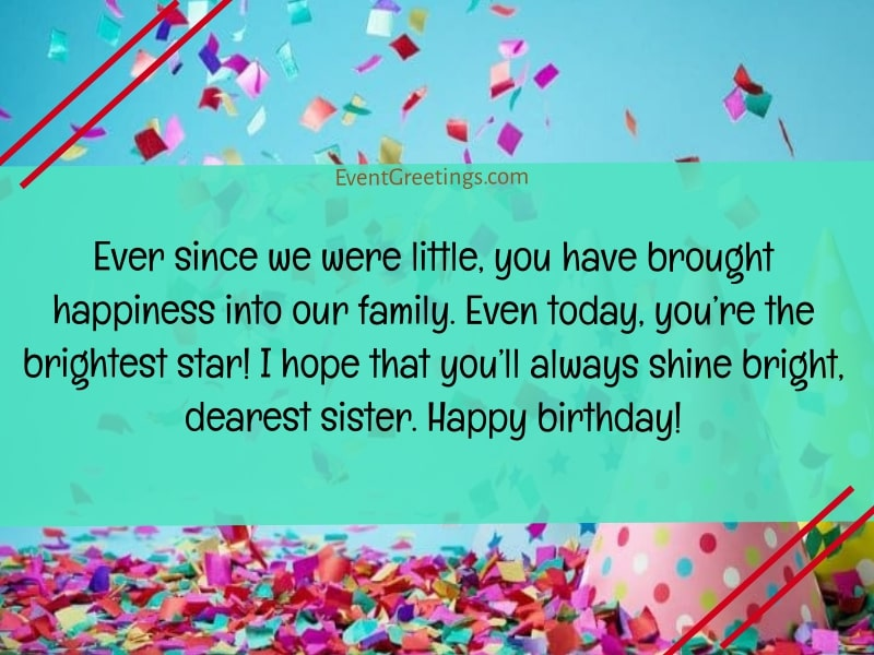Birthday Wishes for Little Sister