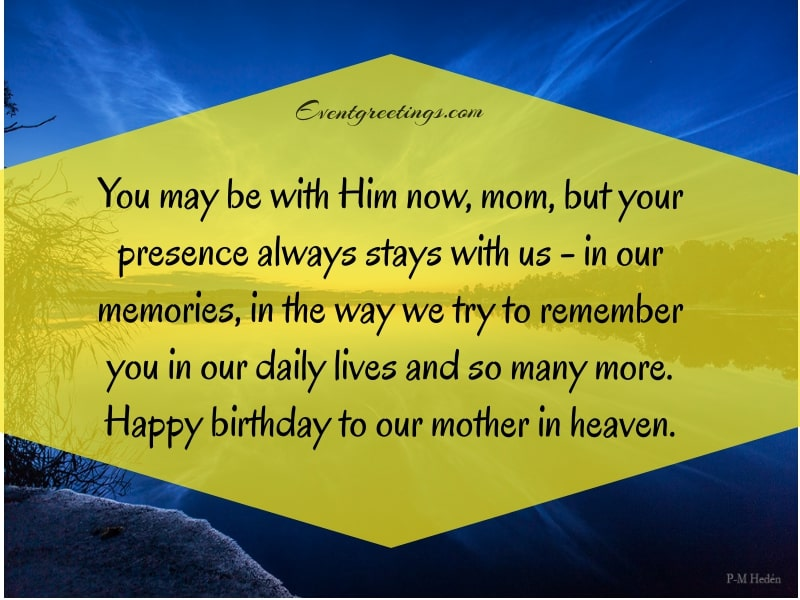 Happy Birthday Mom In Heaven Image