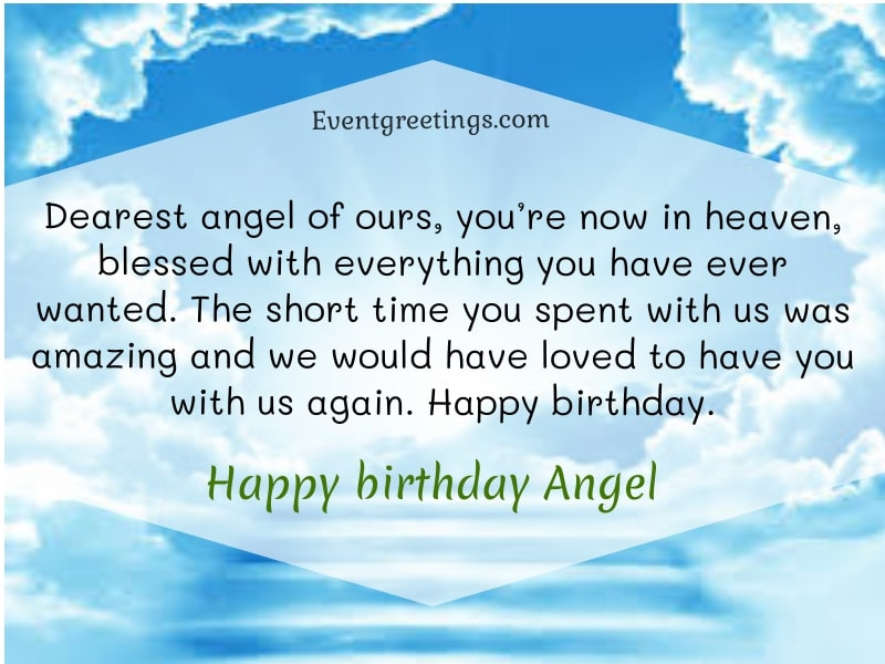 Happy Birthday Angel In Heaven
