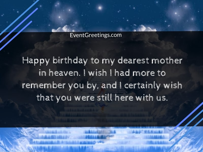 Happy Birthday In Heaven Mom Quotes