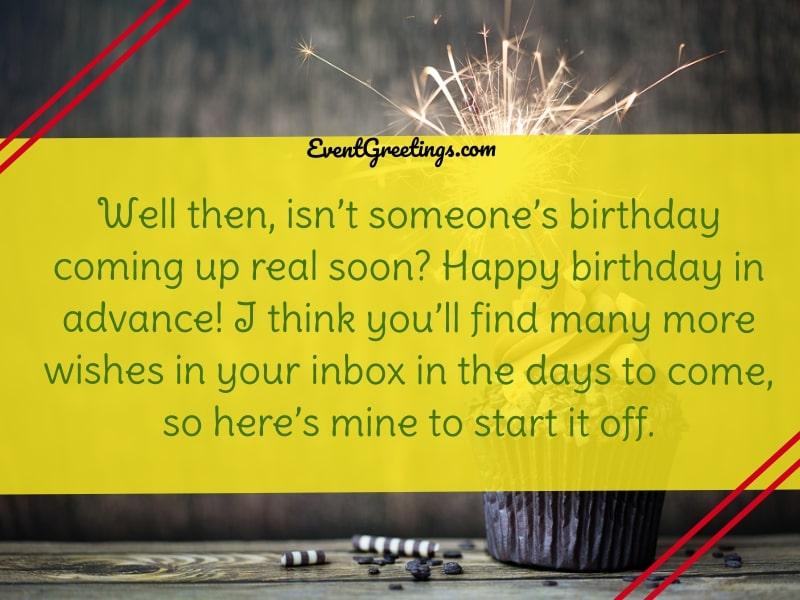 Early Birthday