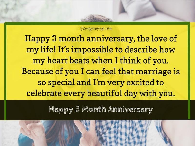 3 Month Anniversary