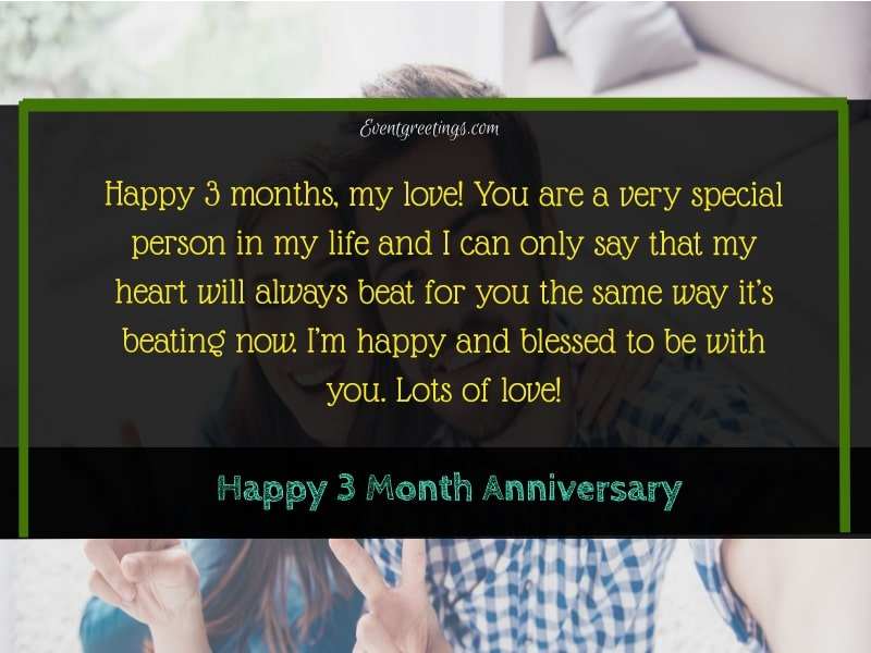 3 Month Anniversary For Boyfriend