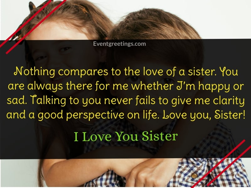 I Love You Sister Images