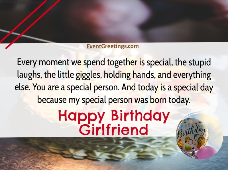 Birthday Quotes For Girlfriend