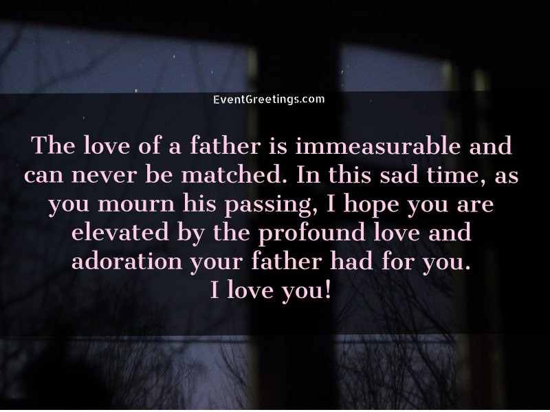 Comforting Words For Death of a Father