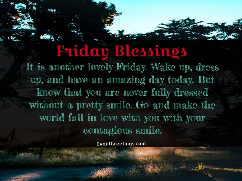 Friday Morning Blessings