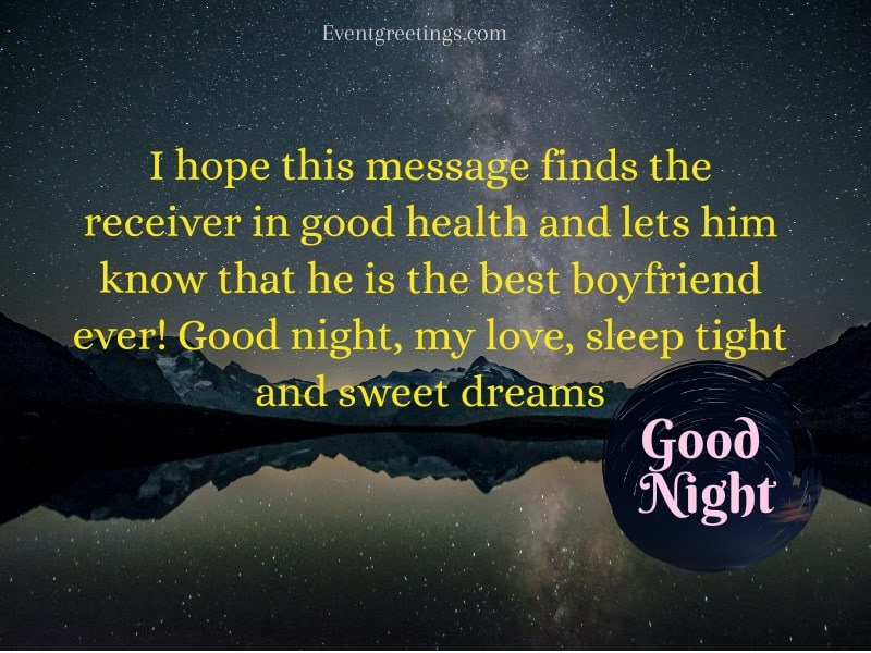 Good Night Message For Him