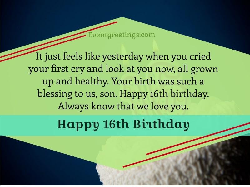 Happy 16th Birthday Son